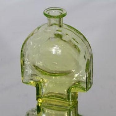 Riihimäen lasi Kyynel koristepullo, keltainen, suunnittelija Nanny Still,