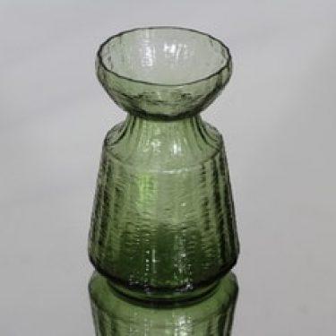 Riihimäen lasi Hyasintti maljakko, vihreä, suunnittelija Tamara Aladin, pieni