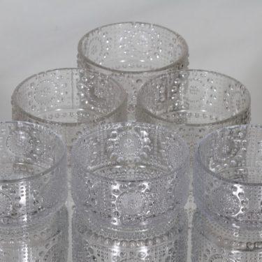 Riihimäen lasi Grapponia annoskulhot, kirkas, 6 kpl, suunnittelija Nanny Still,