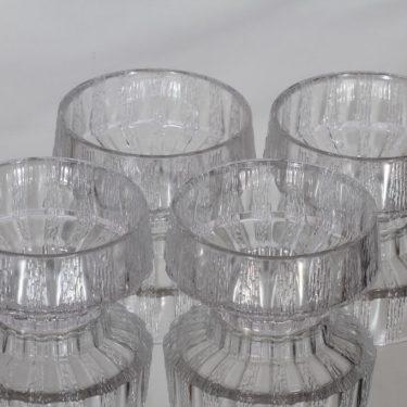 Iittala Vellamo dessert bowls, clear, 4 pcs, Valto Kokko