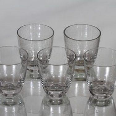 Nuutajärvi Pore lasit, 10 cl, 5 kpl, suunnittelija Gunnel Nyman, 10 cl
