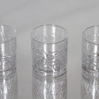 Nuutajärvi Relief lasit, 12 cl, 3 kpl, suunnittelija Heikki Orvola, 12 cl