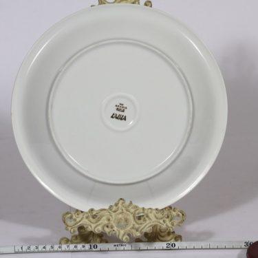 Arabia Kaisla vati, harmaa, suunnittelija Raija Uosikkinen, harmaa, pyöreä, kuparipainokoriste kuva 2