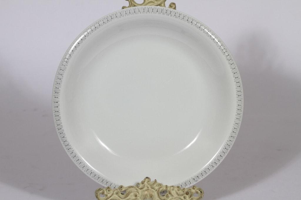 Arabia Kaisla platter, gray, designer Raija Uosikkinen, round, copper ornament