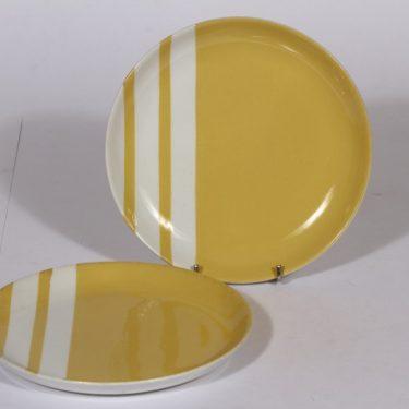 Arabia raitakoriste lautaset, keltainen, 2 kpl, suunnittelija , keltainen, pieni, serikuva, funktionalismi