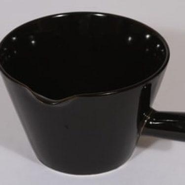 Arabia Kilta kaadin, musta lasite, suunnittelija , suuri, kahvallinen