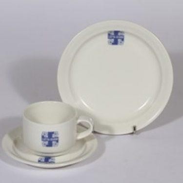 Arabia Lotta-Svärd kahvikuppi ja lautanen, suunnittelija , serikuva