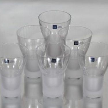 Iittala Marius lasit, 10 cl, 6 kpl, suunnittelija Markku Salo, 10 cl, matta