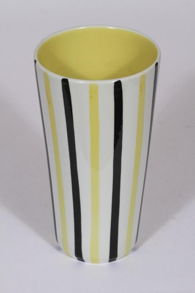 Arabia Inari vase, yellow, Göran Bäck