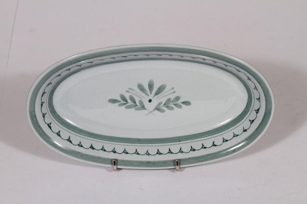 Arabia Green Thistle sillivati, käsinmaalattu, suunnittelija , käsinmaalattu, pieni, soikea
