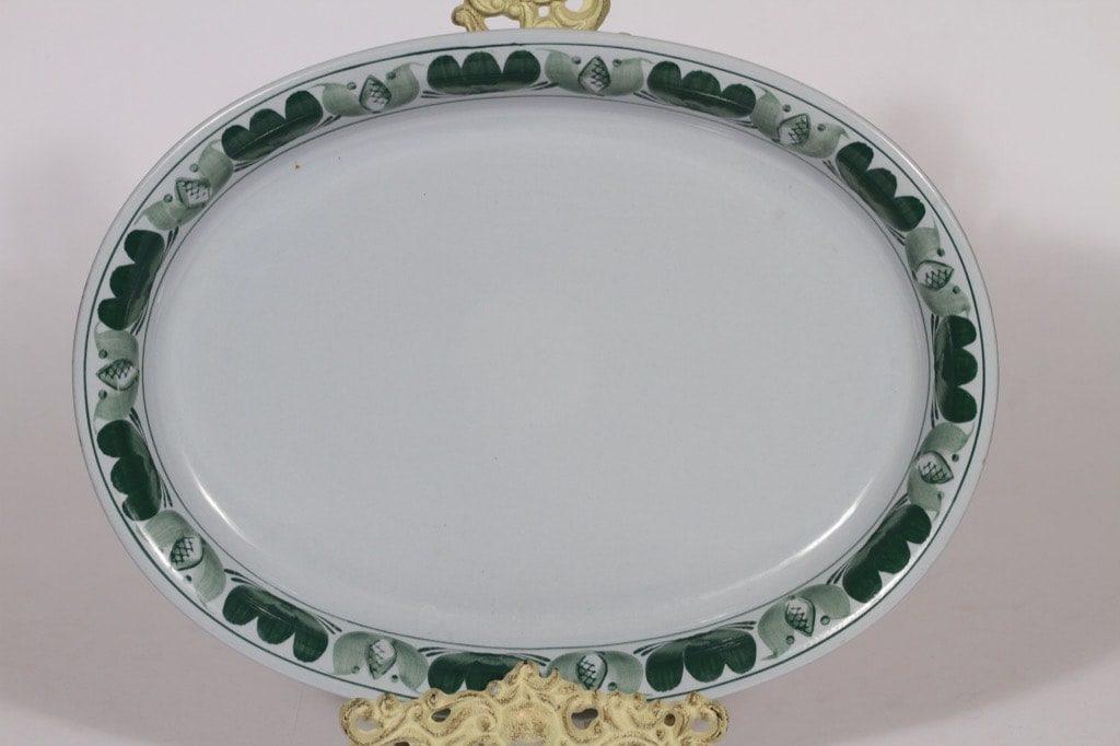 Arabia Green Laurel vati, käsinmaalattu, suunnittelija , käsinmaalattu, soikea