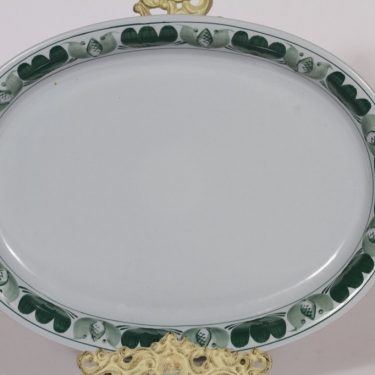 Arabia Green Laurel platter, hand-painted, oval