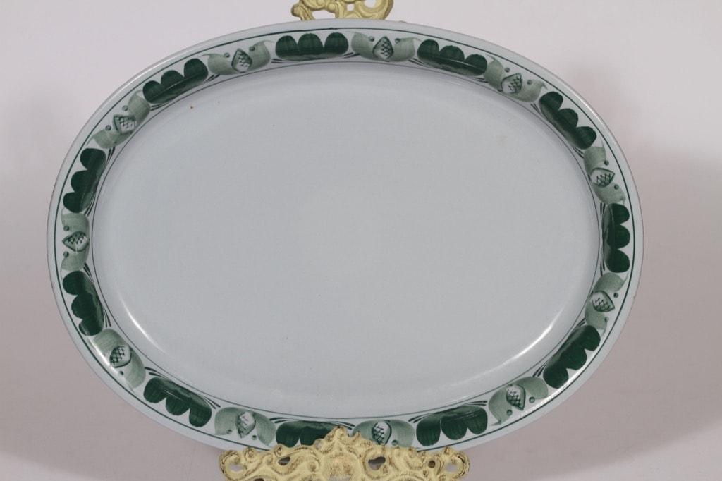 Arabia Green Laurel platter, hand-painted, oval