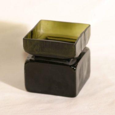 Riihimäen lasi Pala lasimaljakko, oliivinvihreä, suunnittelija Helena Tynell,