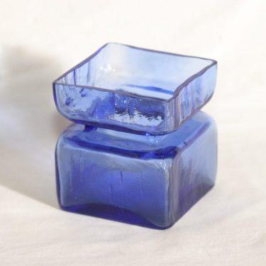 Riihimäen lasi Pala lasimaljakko, koboltinsininen, suunnittelija Helena Tynell,
