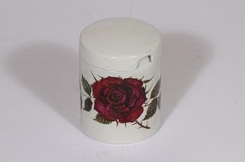 Arabia Ruusu purnukka, punainen, suunnittelija , serikuva, kukka-aihe