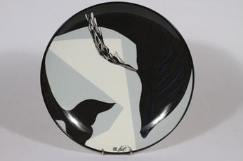 Arabia seinälautanen, mustavalkoinen, suunnittelija Howard Smith, serikuva, signeerattu