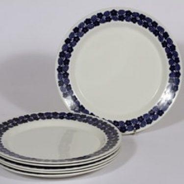 Arabia Rypäle lautaset, matala, 6 kpl, suunnittelija Raija Uosikkinen, matala, serikuva