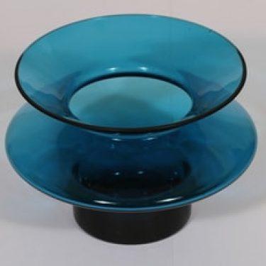 Riihimäen lasi Hyrrä maljakko, sininen, suunnittelija Helena Tynell,