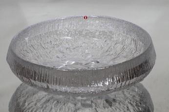 Iittala Lunaria kulho, kirkas, suunnittelija Tapio Wirkkala, massiivinen