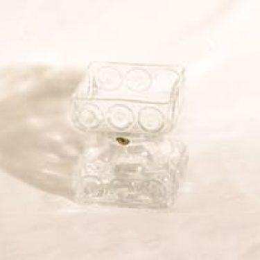 Riihimäen lasi Kehrä lasimaljakko, kirkas, suunnittelija Tamara Aladin,