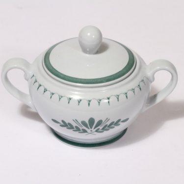 Arabia Green Thistle sokerikko, käsinmaalattu, suunnittelija , käsinmaalattu