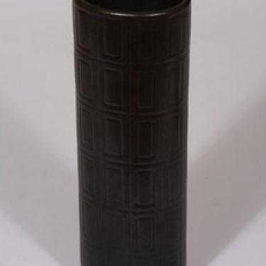 Arabia Oliivi maljakko, ruskea lasite, suunnittelija , funktionalismi