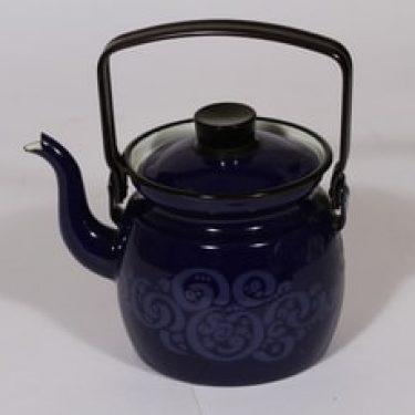 Finel Orient kahvipannu, suunnittelija Raija Uosikkinen, sininen, serikuva