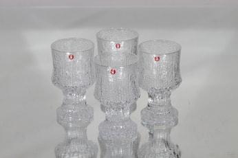 Iittala Ultima Thule lasit, 4kpl|10cl, suunnittelija Tapio Wirkkala, 4kpl|10cl