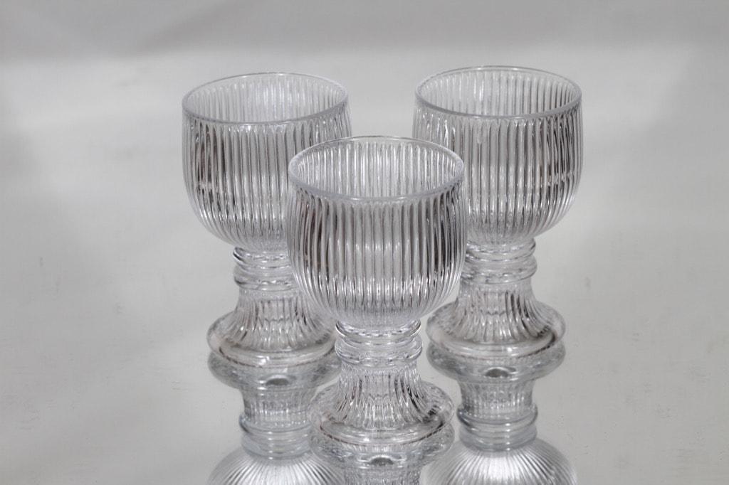 Iittala Viktor lasit, 10 cl, 3 kpl, suunnittelija Valto Kokko, 10 cl
