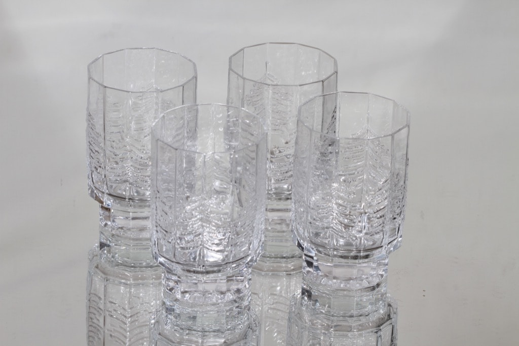 Iittala Kuusi lasit, kirkas, 4 kpl, suunnittelija Jorma Vennola,