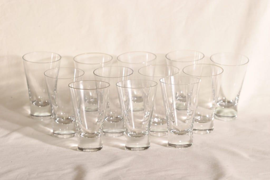 Iittala Aarne lasit, 14 cl, 12 kpl, suunnittelija Görän Hongell, 14 cl
