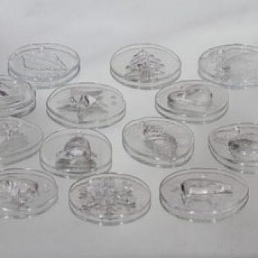 Nuutajärvi joulukoristeet, kirkas, 12 kpl, suunnittelija ,