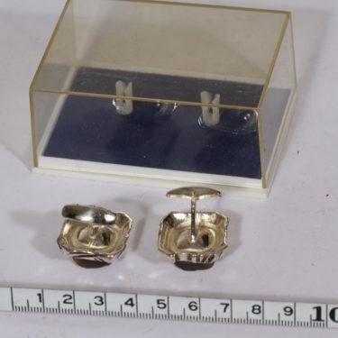 Turun Hopea H 5586 kalvosinnapit, hopea, 2 kpl, suunnittelija Pentti Sarpaneva, hopea kuva 2