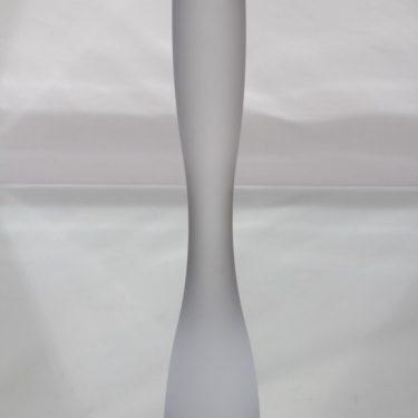 Iittala Marcel kynttilänjalka, kirkas, suunnittelija Timo Sarpaneva, suuri, matta, signeerattu