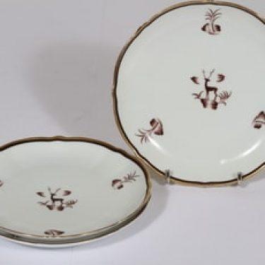Arabia Diana leivoslautaset, 3 kpl, suunnittelija , painokoriste, art deco