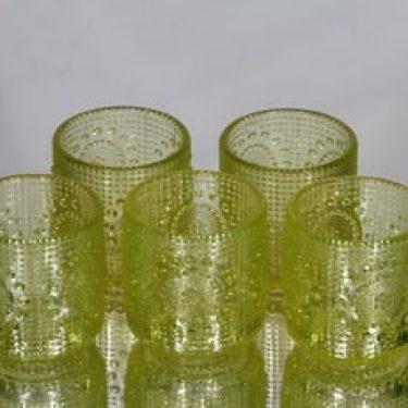Riihimäen lasi Grapponia lasit, keltainen, 5 kpl, suunnittelija Nanny Still,