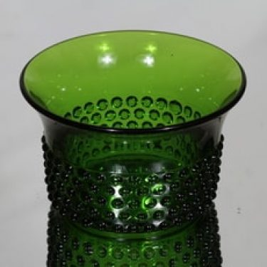 Nuutajärvi Näppyläkulho kulho, vihreä, suunnittelija Saara Hopea,