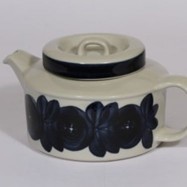 Arabia Anemone teekaadin, 1.35 l, suunnittelija Ulla Procope, 1.35 l, käsinmaalattu