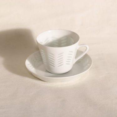Arabia riisiposliini kahvikuppi, suunnittelija Friedl Holzer-Kjellberg,