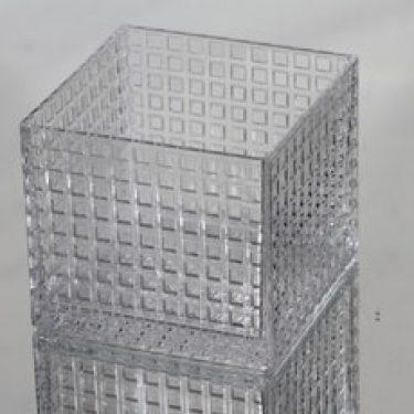 Nuutajärvi Ruuturitari kulho, kirkas, suunnittelija Kaj Franck, pieni