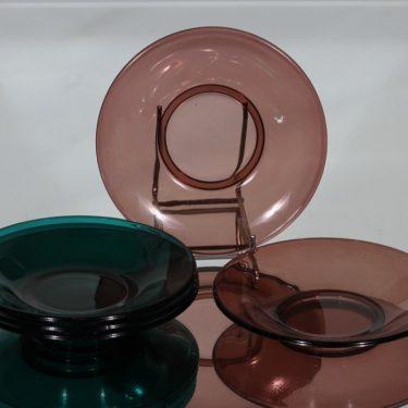 Nuutajärvi lautaset, eri värejä, 5 kpl, suunnittelija , pieni