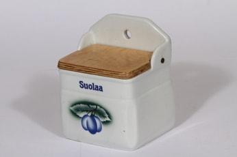 Arabia Luumu suola-astia, suunnittelija , serikuva, luumuaihe