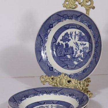 Arabia Willow syvät lautaset, 4 kpl, suunnittelija , kuparipainokoriste