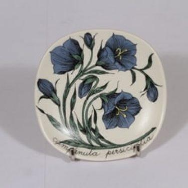 Arabia Botanica koristelautanen, suunnittelija Esteri Tomula, pieni, kukka-aihe