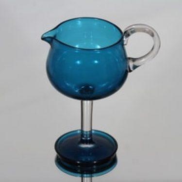 Riihimäen lasi Harlekiini kermakko, sininen, suunnittelija Nanny Still,