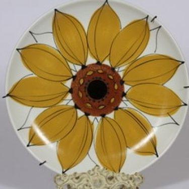 Arabia Aurinkoruusu vati, käsinmaalattu, suunnittelija , käsinmaalattu, suuri, signeerattu, kukka-aihe