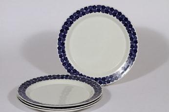 Arabia Rypäle lautaset, sininen, 4 kpl, suunnittelija , serikuva