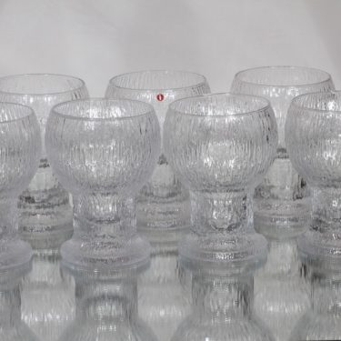 Iittala Kekkerit lasit, 50 cl, 7 kpl, suunnittelija Timo Sarpaneva, 50 cl