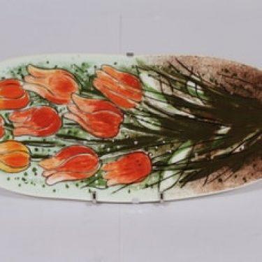 Arabia koristelaatta, Tulppaaneja tulvillaan, suunnittelija Heljä Liukko-Sundström, Tulppaaneja tulvillaan, suuri, serikuva
